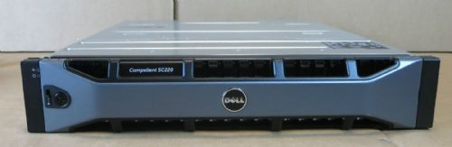 Dell Compellent SC220 7.2TB 24x 300GB 15K 2x 700w PSU 2x SC2 EMM Expan Enclosure